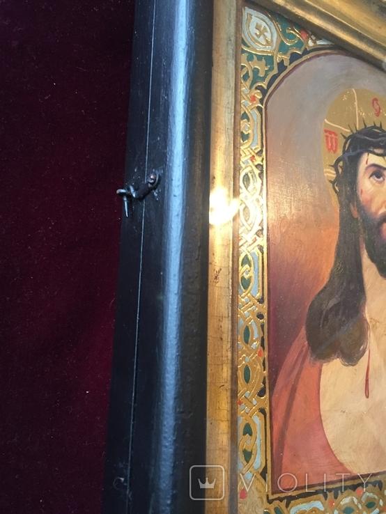 Икона Спас В терновом венке Киот, фото №3