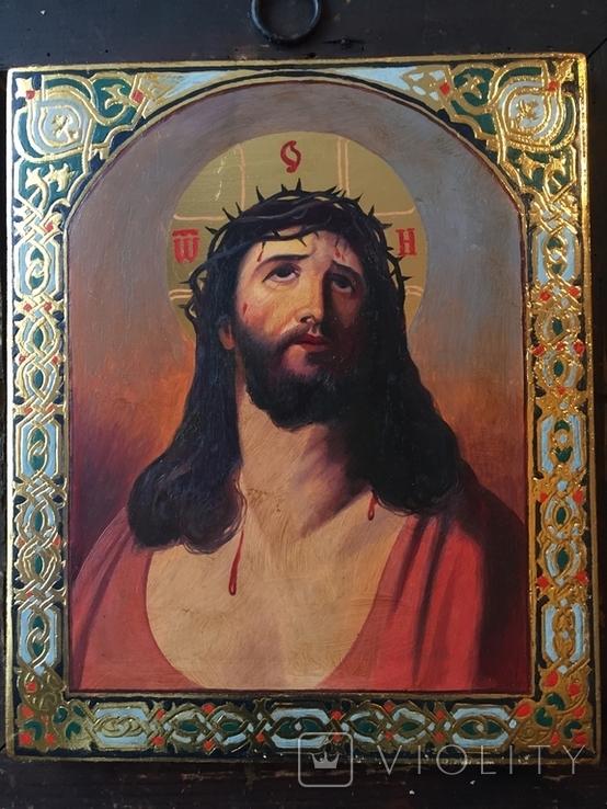 Икона Спас В терновом венке Киот, фото №5