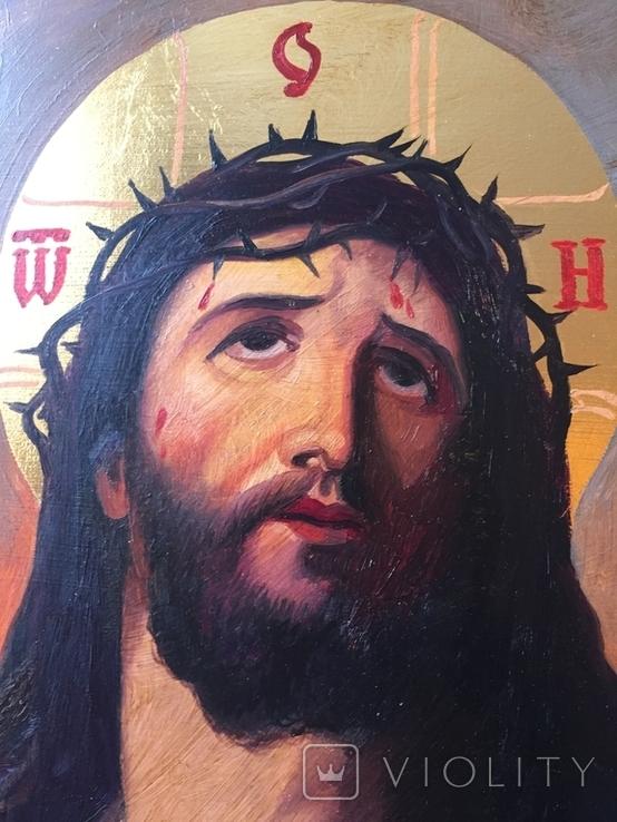 Икона Спас В терновом венке Киот, фото №6