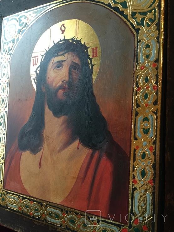 Икона Спас В терновом венке Киот, фото №8