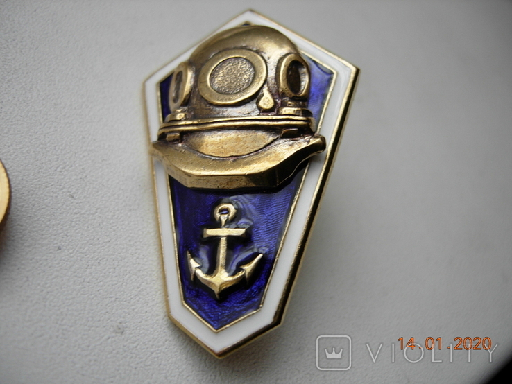 Ромб училище ВМФ СССР (водолаз ).копия., фото №2