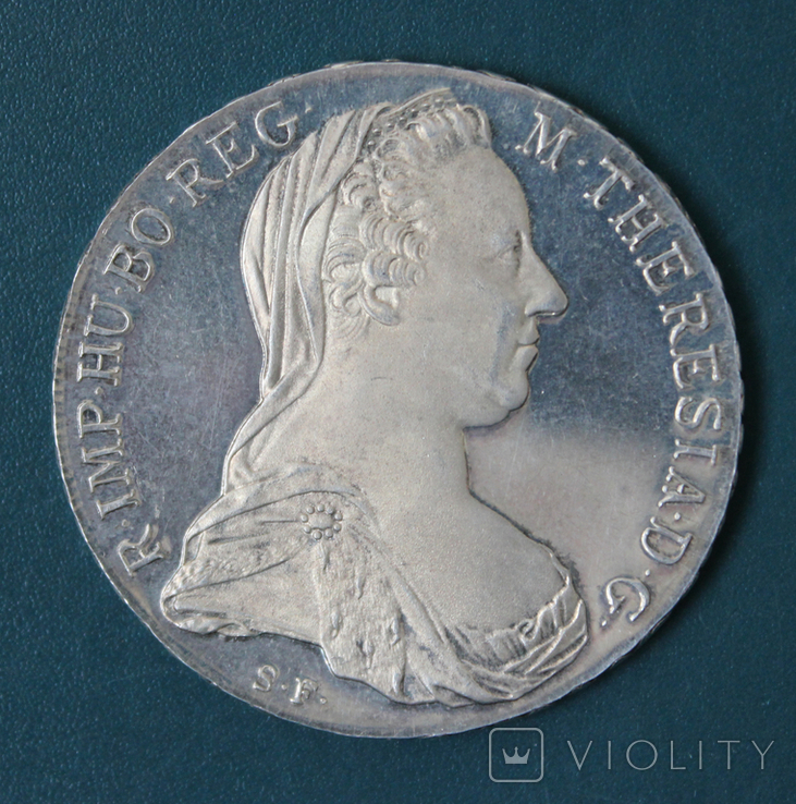 1 талер 1780 Марии Терезии, Proof, фото №2