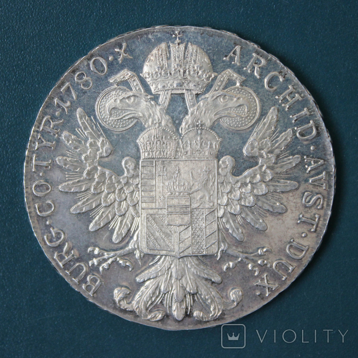 1 талер 1780 Марии Терезии, Proof, фото №3
