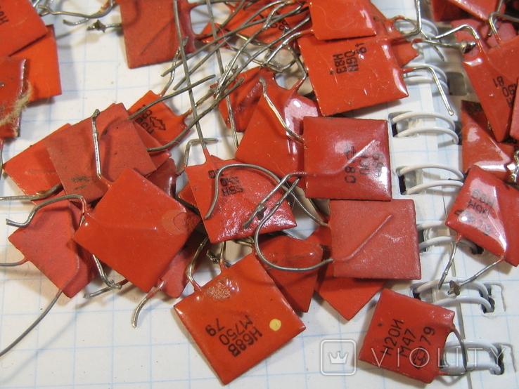 Конденсаторы красные 113,4 г, фото №3