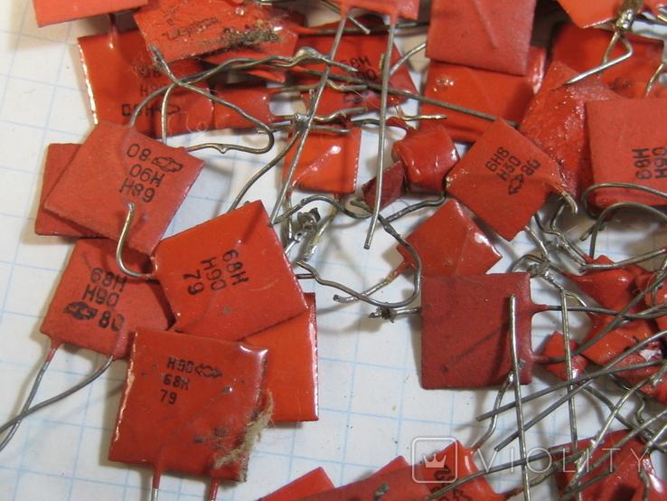 Конденсаторы красные 113,4 г, фото №4