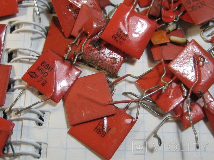Конденсаторы красные 113,4 г, фото №6