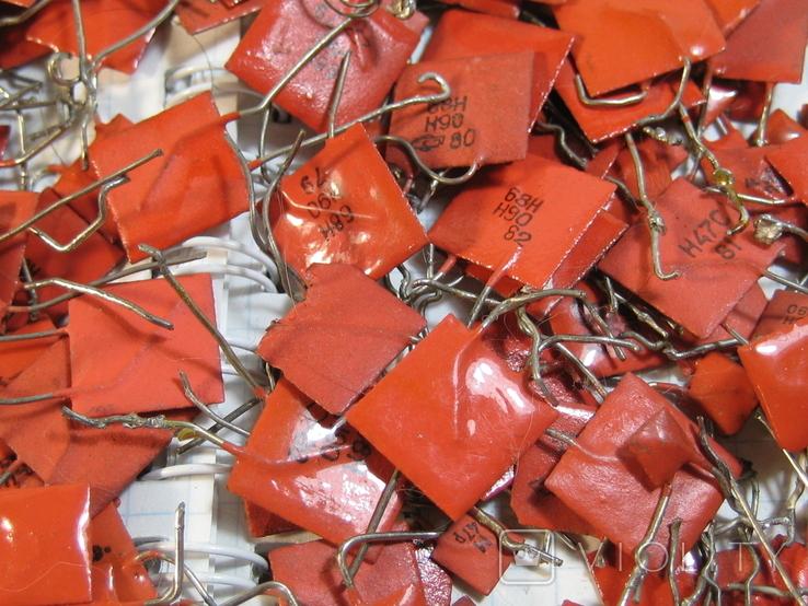 Конденсаторы красные 113,4 г, фото №7