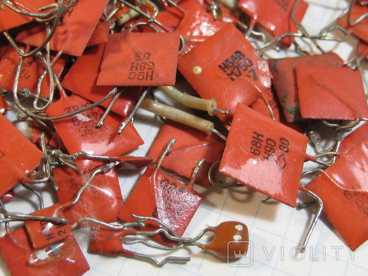 Конденсаторы красные 113,4 г, фото №10
