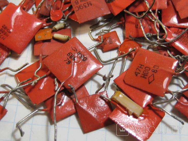 Конденсаторы красные 113,4 г, фото №11