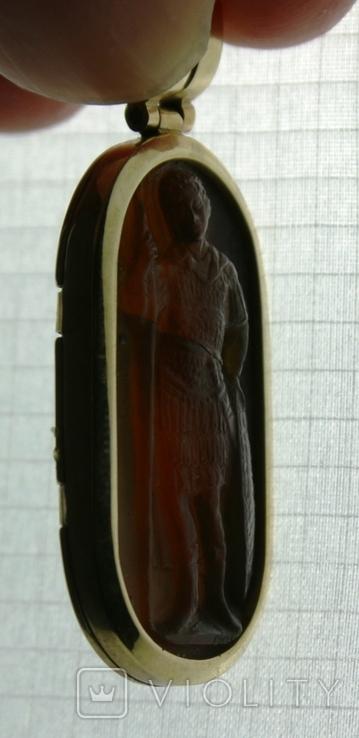 Кулон резной Св.Георгий. Авторская работа Григорий Гусак., фото №6