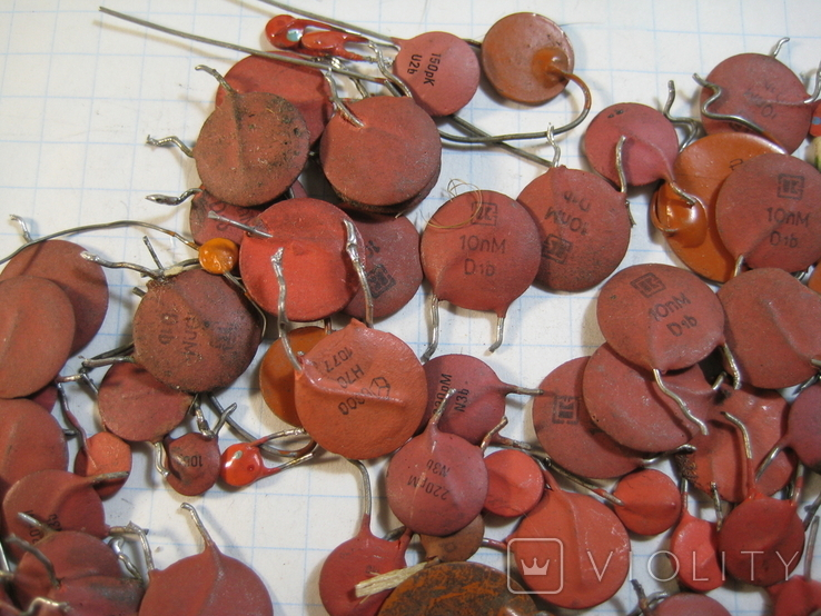 Конденсаторы красные 50,8 г, фото №3