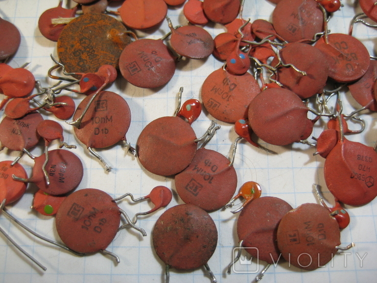 Конденсаторы красные 50,8 г, фото №5