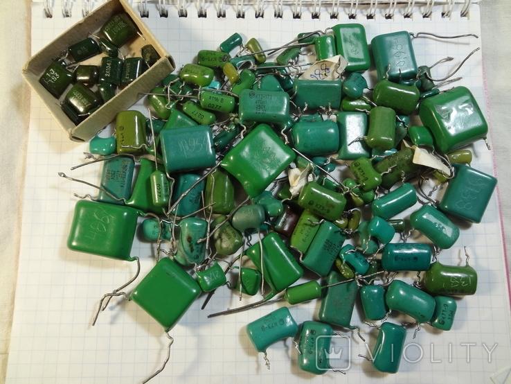 Конденсаторы зеленые 176,3 г, фото №2
