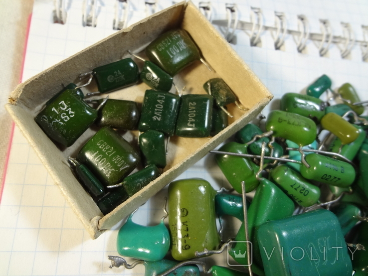 Конденсаторы зеленые 176,3 г, фото №3