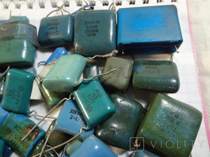 Конденсаторы синие 276,7 г, фото №5