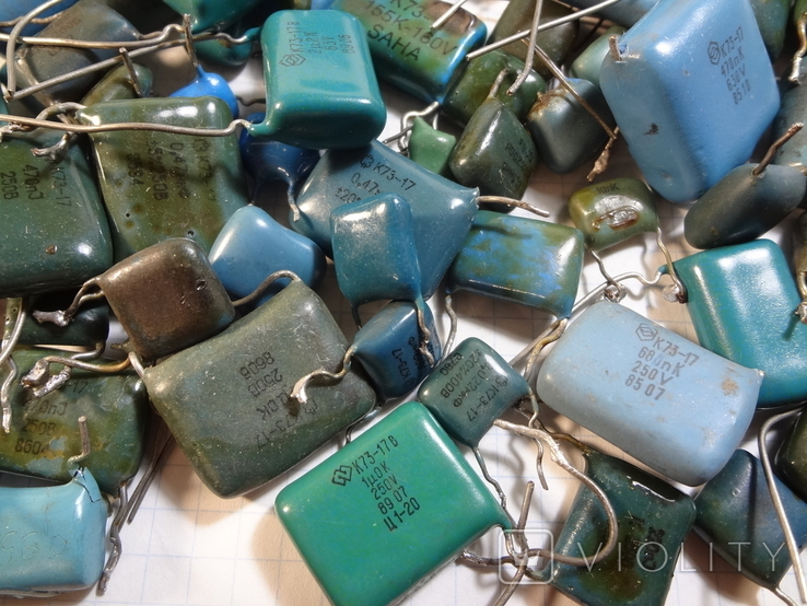 Конденсаторы синие 276,7 г, фото №7