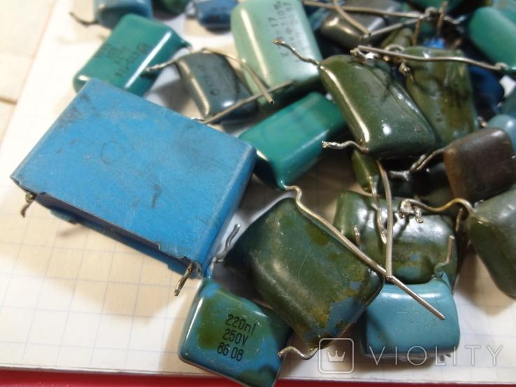 Конденсаторы синие 276,7 г, фото №8