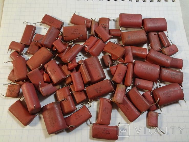 Конденсаторы красные 131,7 г, фото №2