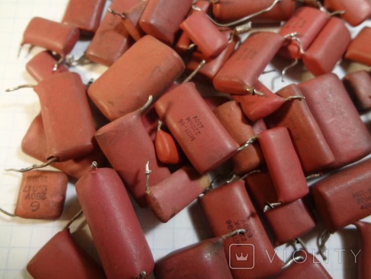 Конденсаторы красные 131,7 г, фото №4