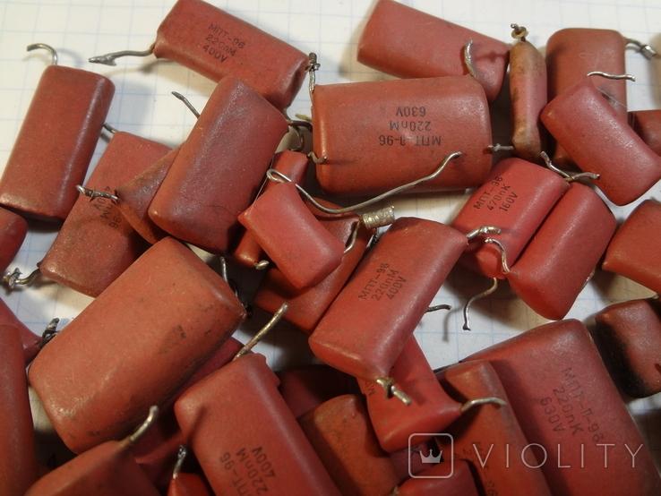 Конденсаторы красные 131,7 г, фото №5