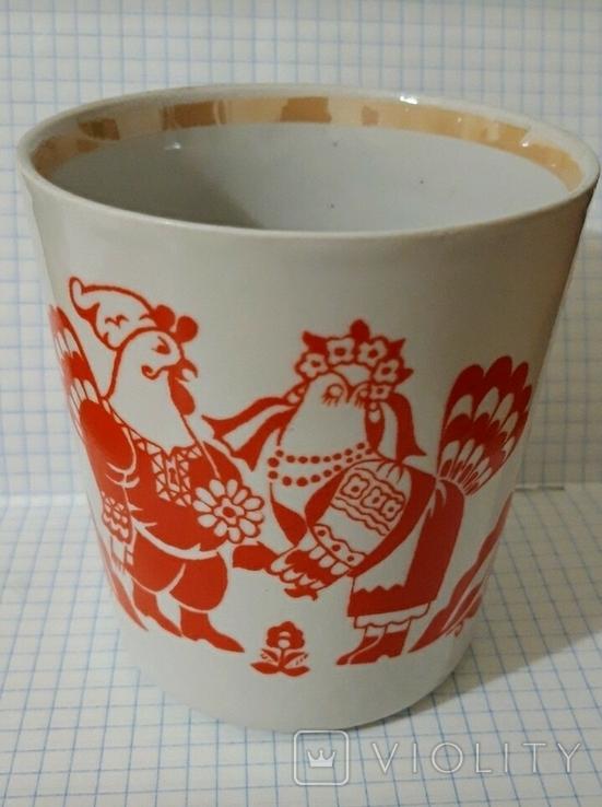 Чашка петух и курочка Довбыш СССР, фото №2