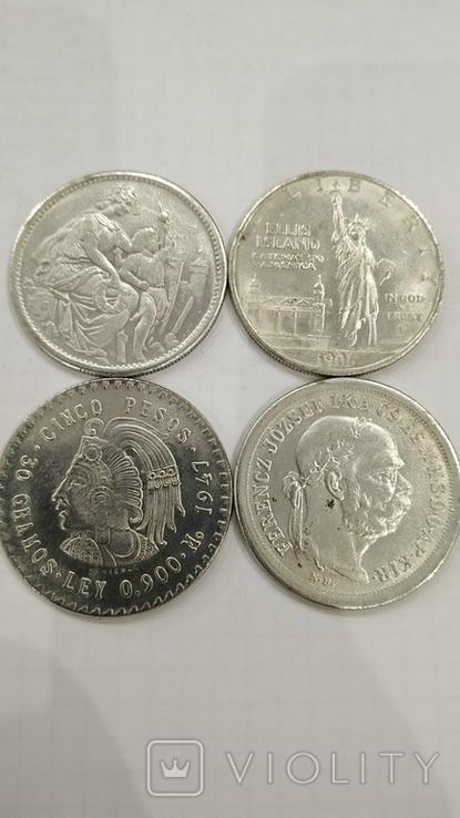 Копии иностранных монет 4шт. (2)., фото №3