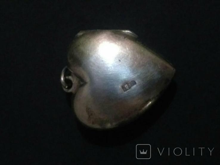 Кулон - сердечко СССР (875 пробы с головой), фото №12