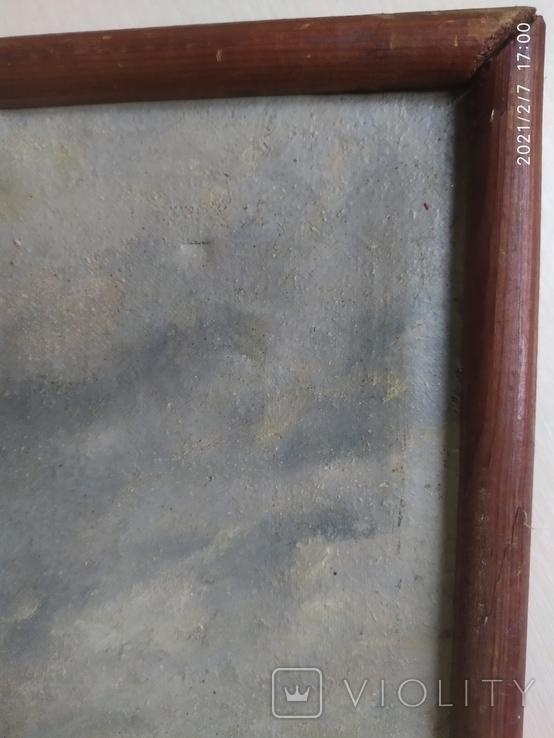 """Картина """"Дети, бегущие от грозы"""". Копия 1968 года с подписью автора., фото №9"""