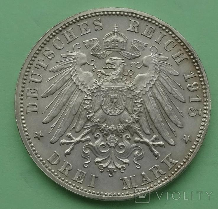 3 марки, 1915г, Саксен-Менинген,, фото №3