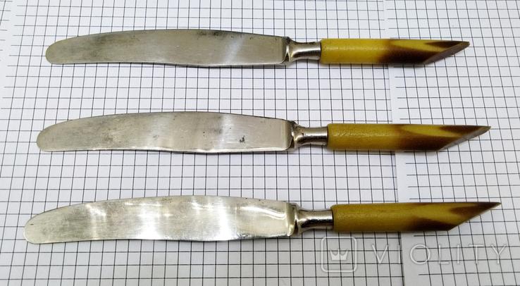 Ножи столовый 3шт старинные, Германия FEINSTAHL SOLINGEN. Клеймо, фото №3