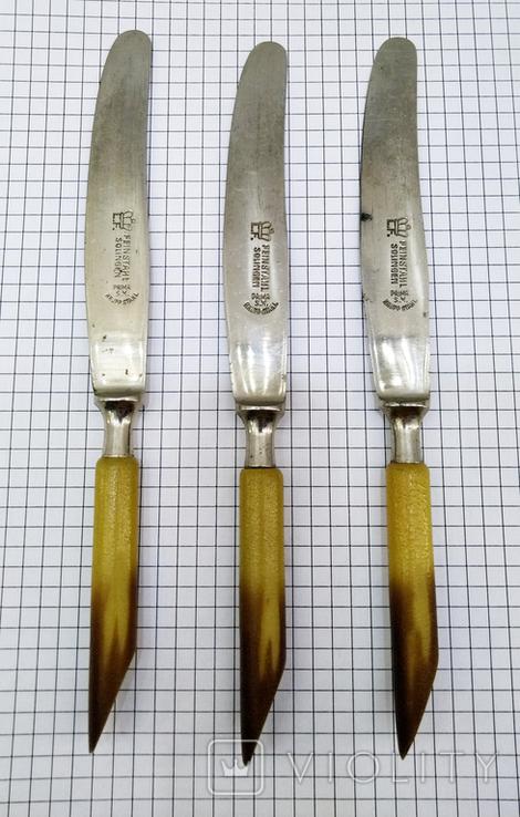 Ножи столовый 3шт старинные, Германия FEINSTAHL SOLINGEN. Клеймо, фото №4