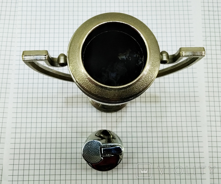 Зажигалка Кубок Коллекционная, Америка. U.S.S.A. V.BREV № 3477E. Клеймо, фото №11