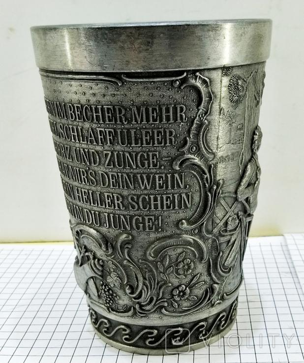 Стакан олово Германия клеймо. Сюжет и текст, фото №12