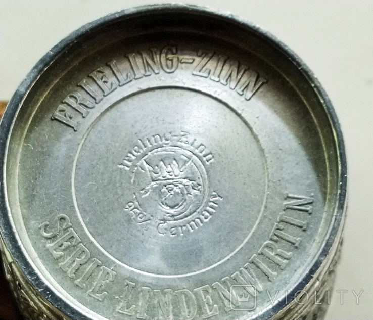 Рюмки 6 шт. олово Германия, сюжет, клеймо, фото №7