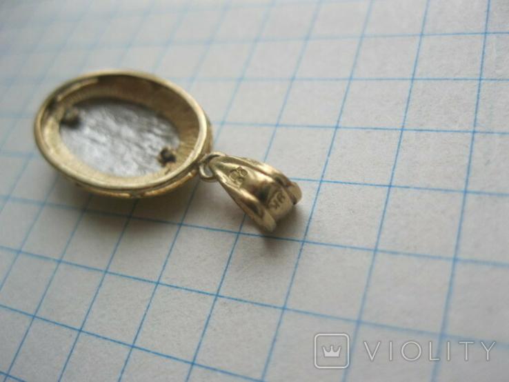Медальон (9 карат 375 пр), фото №6