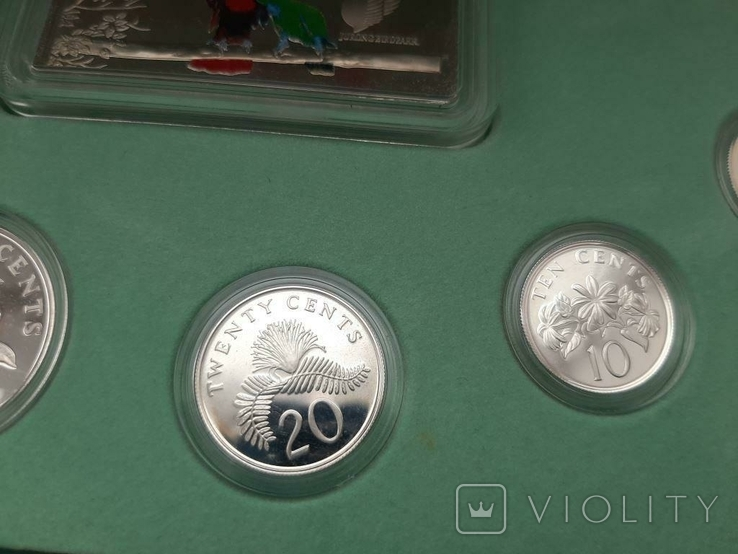 1997 Singapore Sterling Silver Proof Coin Set (1 - 5 Coin), фото №5