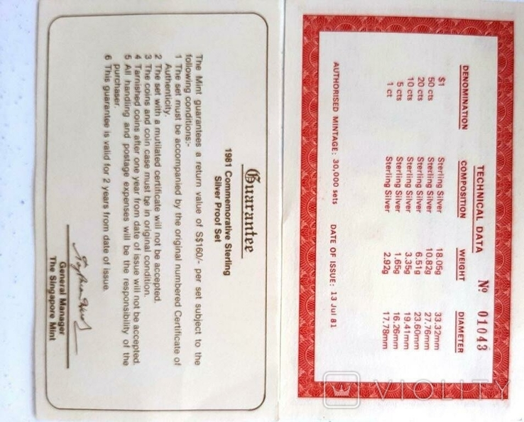 1971-1981 SINGAPORE 10TH ANNIVERSARY COMMEMORATIVE STERLING SILVER PROOF SET, фото №8