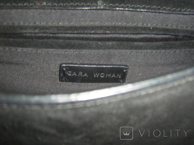 Сумка кожаная на ремешке-цепочке Zara Womаn, фото №6