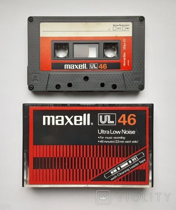 Аудиокассета Maxell UL 46 (Japanese version 1978), фото №2