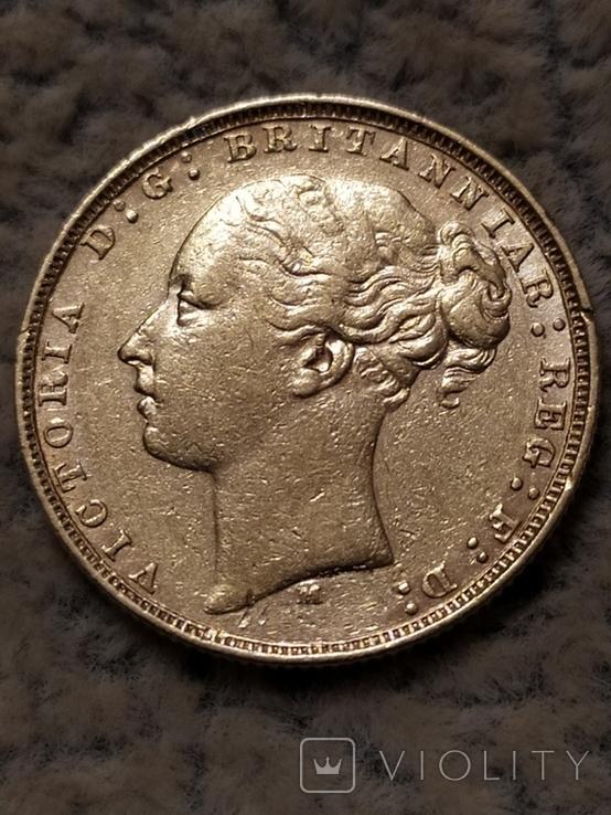 Соверен 1878 г. Великобритания., фото №8