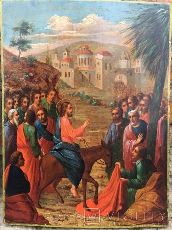 Икона Вход Господень в Иерусалим, фото №2