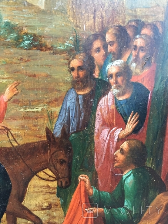 Икона Вход Господень в Иерусалим, фото №4