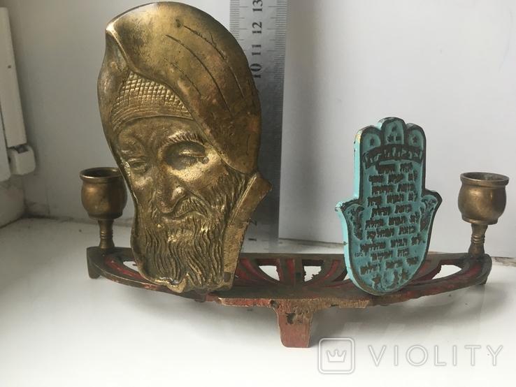 Подсвечник с табличкой на иврите, фото №10