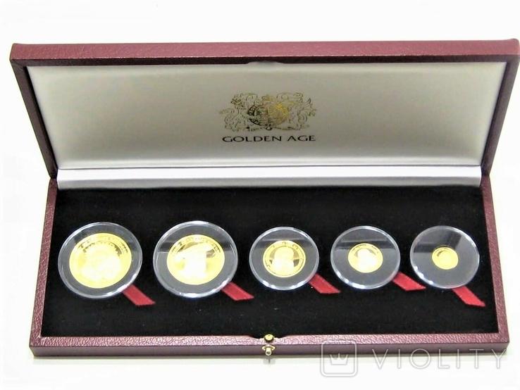 Набор золотых монет о-в Мэн 2003 г.  Золотой Век.