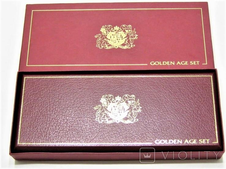 Набор золотых монет о-в Мэн 2003 г.  Золотой Век., фото №4