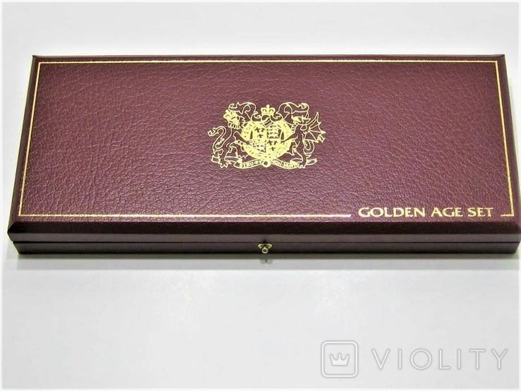 Набор золотых монет о-в Мэн 2003 г.  Золотой Век., фото №5