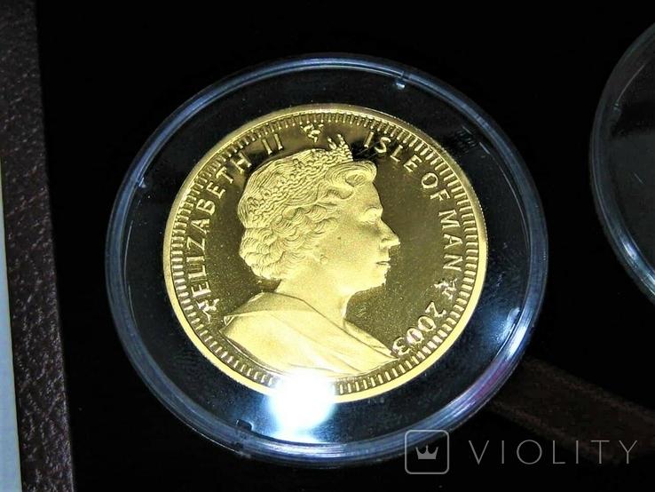 Набор золотых монет о-в Мэн 2003 г.  Золотой Век., фото №9