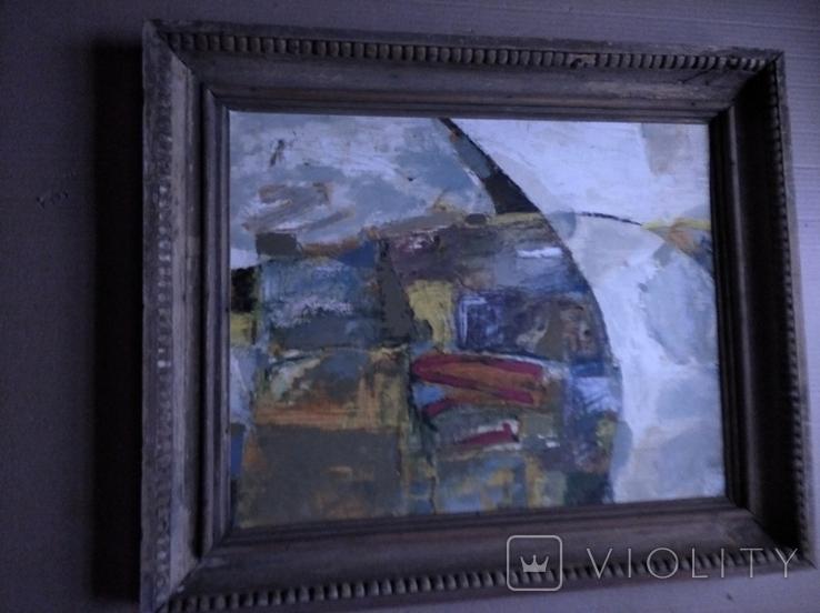 """""""Композиция"""", к.м. 40х50 1971г. Борис Лукин, фото №3"""