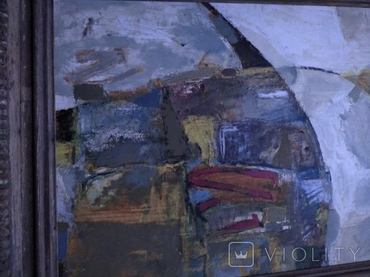"""""""Композиция"""", к.м. 40х50 1971г. Борис Лукин, фото №4"""