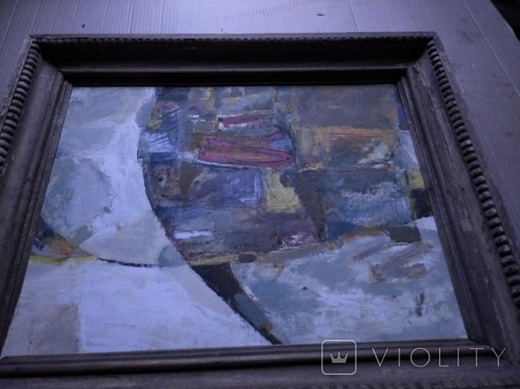 """""""Композиция"""", к.м. 40х50 1971г. Борис Лукин, фото №6"""